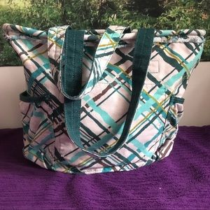 Thirty-one retro metro tote bag - blue green white